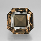 thumb image of 10.5ct Octagon / Scissor Cut Brown Smoky Quartz (ID: 408134)