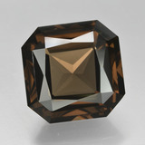 thumb image of 11.6ct Octagon / Scissor Cut Brown Smoky Quartz (ID: 408141)
