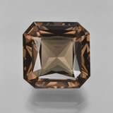 thumb image of 10.6ct Octagon / Scissor Cut Brown Smoky Quartz (ID: 408183)