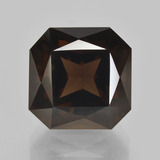 thumb image of 11.4ct Octagon / Scissor Cut Brown Smoky Quartz (ID: 408190)