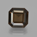 thumb image of 5.1ct Sfaccettatura ottagonale Hickory Brown Quarzo fumé (ID: 413420)
