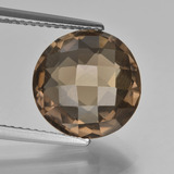thumb image of 5ct Round Checkerboard (double sided) Brown Smoky Quartz (ID: 416676)