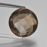 thumb image of 4.8ct Round Checkerboard (double sided) Brown Smoky Quartz (ID: 416677)