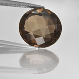 thumb image of 8.5ct Round Checkerboard (double sided) Brown Smoky Quartz (ID: 416686)