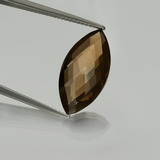 thumb image of 7.1ct Marquise Checkerboard (double sided) Brown Smoky Quartz (ID: 416835)