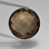 thumb image of 10.1ct Round Checkerboard (double sided) Brown Smoky Quartz (ID: 416898)