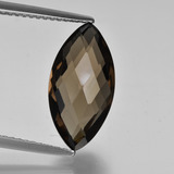 thumb image of 4.1ct Marquise Checkerboard (double sided) Brown Smoky Quartz (ID: 417003)