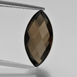 thumb image of 4.3ct Marquise Checkerboard (double sided) Brown Smoky Quartz (ID: 417004)