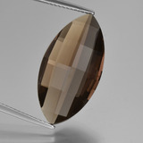 thumb image of 9.7ct Marquise Checkerboard (double sided) Brown Smoky Quartz (ID: 417097)