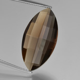 thumb image of 9.9ct Marquise Checkerboard (double sided) Brown Smoky Quartz (ID: 417098)