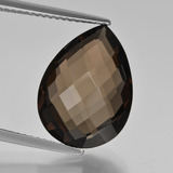 thumb image of 8.1ct Pear Double-Sided Checkerboard Brown Smoky Quartz (ID: 417146)