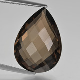 thumb image of 9.6ct Pear Double-Sided Checkerboard Brown Smoky Quartz (ID: 417147)