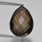 thumb image of 8.2ct Pear Double-Sided Checkerboard Brown Smoky Quartz (ID: 417149)