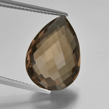 thumb image of 9.7ct Pear Double-Sided Checkerboard Brown Smoky Quartz (ID: 417157)