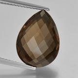 thumb image of 7.8ct Pear Double-Sided Checkerboard Brown Smoky Quartz (ID: 417160)
