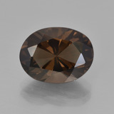 thumb image of 5.2ct Oval Facet Brown Smoky Quartz (ID: 417535)