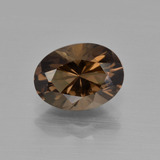 thumb image of 2.2ct Oval Facet Brown Smoky Quartz (ID: 417544)