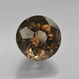 7.66 ct Round Petal Cut Brown Smoky Quartz Gem 11.95 mm  (Photo B)