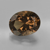 thumb image of 6.3ct Oval Facet Brown Smoky Quartz (ID: 417766)