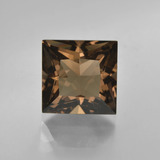 thumb image of 5.3ct Princess-Cut Brown Smoky Quartz (ID: 417768)