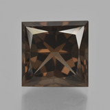 thumb image of 11ct Princess-Cut Brown Smoky Quartz (ID: 417907)