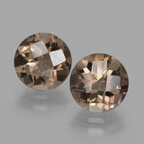thumb image of 3.6ct Round Checkerboard Brown Smoky Quartz (ID: 427960)