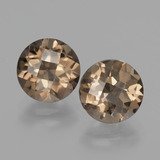 thumb image of 3.6ct Round Checkerboard Brown Smoky Quartz (ID: 427962)