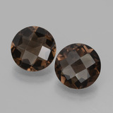 thumb image of 3ct Round Checkerboard Brown Smoky Quartz (ID: 427967)