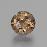 thumb image of 1.7ct Round Checkerboard Brown Smoky Quartz (ID: 428131)