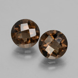 thumb image of 3.5ct Round Checkerboard Brown Smoky Quartz (ID: 428163)
