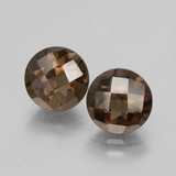thumb image of 3.6ct Round Checkerboard Brown Smoky Quartz (ID: 428164)