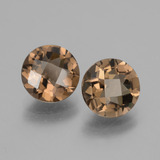 thumb image of 3.3ct Round Checkerboard Brown Smoky Quartz (ID: 428171)