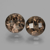 thumb image of 3.6ct Round Checkerboard Brown Smoky Quartz (ID: 428208)