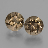 thumb image of 3.5ct Round Checkerboard Brown Smoky Quartz (ID: 428216)