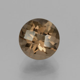 thumb image of 2ct Round Checkerboard Brown Smoky Quartz (ID: 428255)
