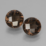 thumb image of 3.2ct Round Checkerboard Brown Smoky Quartz (ID: 428328)
