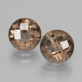 thumb image of 3.8ct Round Checkerboard Brown Smoky Quartz (ID: 428330)