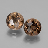 thumb image of 3.9ct Round Checkerboard Brown Smoky Quartz (ID: 428400)