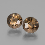 thumb image of 3.4ct Round Checkerboard Brown Smoky Quartz (ID: 428403)