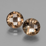 thumb image of 3.8ct Round Checkerboard Brown Smoky Quartz (ID: 428404)