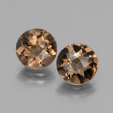thumb image of 3.3ct Round Checkerboard Brown Smoky Quartz (ID: 428407)