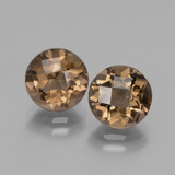 thumb image of 3.6ct Round Checkerboard Brown Smoky Quartz (ID: 428410)