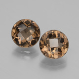 thumb image of 3.5ct Round Checkerboard Brown Smoky Quartz (ID: 428474)