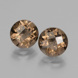 thumb image of 3.6ct Round Checkerboard Brown Smoky Quartz (ID: 428475)