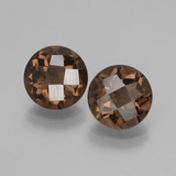thumb image of 3.5ct Round Checkerboard Brown Smoky Quartz (ID: 428482)