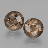 thumb image of 3.7ct Round Checkerboard Brown Smoky Quartz (ID: 428520)