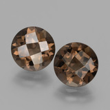 thumb image of 3.5ct Round Checkerboard Brown Smoky Quartz (ID: 428529)