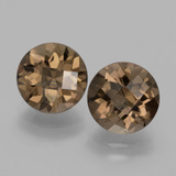 thumb image of 3.8ct Round Checkerboard Brown Smoky Quartz (ID: 428531)