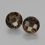 thumb image of 3.1ct Round Checkerboard Brown Smoky Quartz (ID: 428568)