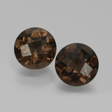 thumb image of 3.6ct Round Checkerboard Brown Smoky Quartz (ID: 428572)